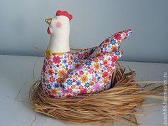 Купить Курочка Ряба - комбинированный, тильда, ручная работа, пасхальный подарок, пасхальный сувенир