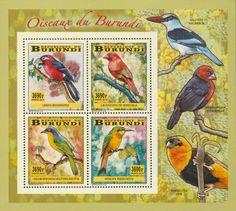 BUR 14104 cBirds Stamps, Birds, Painting, Art, Seals, Art Background, Bird, Painting Art, Paintings