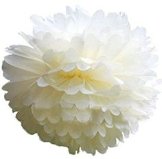 """Amazon.com: Funny Zakka - 6""""-20"""" Pom Poms Tissue Paper Flowers For Celebrate Decoration (12"""" Daffodil)- Fluffy Hanging Lantern Party/Wedding Blooms Ball in 15 colors (Pack of 4)  20 inches $.4.00"""