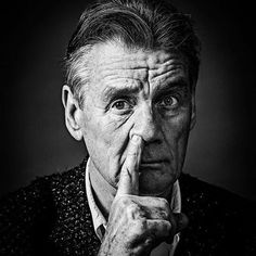 Beautiful celebrity photographic portraits taken by renowned photographer Andy Gotts MBE Celebrity Photography, Portrait Photography, Celebrity Portraits, Andy Gotts, Que Horror, Michael Palin, Actors Male, Monty Python, Face Expressions