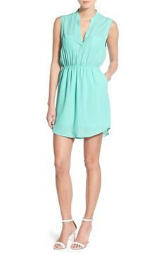 Free shipping and returns on cupcakes and cashmere 'Kellen' Chiffon Shirtdress at Nordstrom.com. A gently cinched waist defines the airy silhouette of a spring-ready shirtdess styled with a slender band collar, patch pockets and a cool rounded hem.