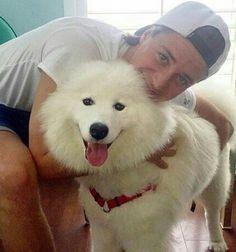 Cute Kygo with a cute fleecy dog ❤
