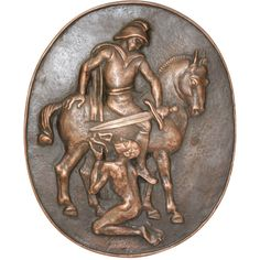 Bronze Relief of St. Martin of Tours by Theodor Georgii 1949