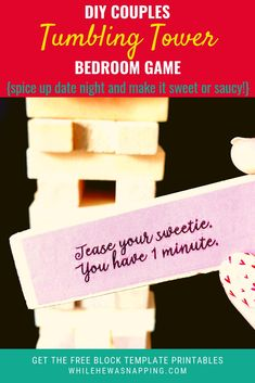 5846c5e4cb4 Couples Jenga  The Perfect At Home Date Night Game