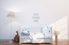 interior PSD, Nursery room photo by HisariDS Mockup Design on @creativemarket