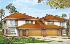 Projekt Szmaragd 2 to wariantowe rozwiązanie projektu Szmaragd. Zaprojektowano go tym razem w wersji bliźniaczej. Budynek o nowoczesnej formie z atrakcyjnymi detalami współgra z prostotą bryły i konstrukcji. Dwie części bliźniaka przekryte dachami kopertowymi połączono garażami zwieńczonymi dwuspadowym, niższym dachem. Dzięki temu połówki domu są od siebie wizualnie odseparowane.