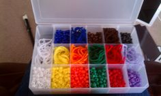 A great way to store your black belt beads and yarn!