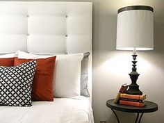 Make this headboard for $20...Definitely doing this. I really want an upholstered headboard!