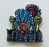 Artsonia Art Gallery :: Hundertwasser Clay Coil Design