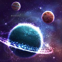 Planet Background  (Vector EPS, CS, abstract, art, backdrop, background, bright, cloud, color, computer, decoration, design, digitally, galaxy, glowing, graphic, illuminated, illustration, jupiter, light, mars, painting, planet, rainbow, saturn, shiny, space, star, stardust, uranus, vector, venus)