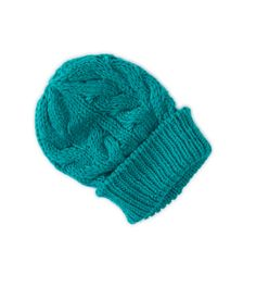 AE Womens Slouchy Cable Knit Beanie