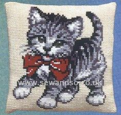 Buy Kitten Cushion Front Chunky Cross Stitch Kit Online at www.sewandso.co.uk