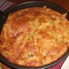 Mexican Cornbread love this, been making it for years!  Used buttermilk instead of milk, chopped jalapeños for green chilis, & added a dash of salt & some black pepper. Very good.