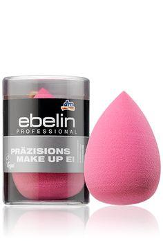 Schminken wie die Profis – mit dem latexfreien, antibakteriellen ebelin Professional Präzisions Make-up Ei. Einfach mit der abgerundeten Seite das Make-up auftragen und gleichmäßig verteilen. 1 Stück