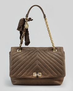 $2490 Happy Quilted Leather Shoulder Bag, Gold by Lanvin at Neiman Marcus.