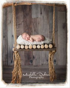 Woodsy Wonders Props & More — Rustic Log Swing, Woodsy Wonders Photography Prop for Newborns and Others