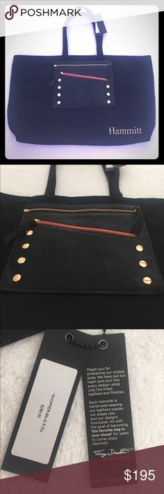 Hammitt designer bag This brand new beautiful tote bag has a zip off genuine leather hand bag. It has never been used and was given as a gift. hammitt Bags Totes