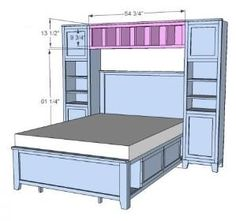 "how to: build a ""bed bridge"" bookcase using ikea bookcases"