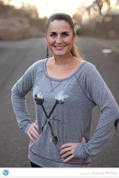 Valentine's Day Heart Arrow Shirt {Silhouette Blog} LOVE the elbows!!