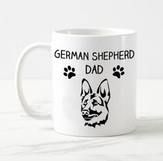 German Shepherd dad mug, dog mug, german shepherd mug gift, dog owner gift, gift for him, best dog dad, funny dog mug, alsatian dog mug,