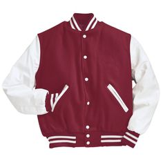 Game Varsity Jacket, in black w/white leather sleeves!