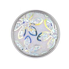 Acrylic Flower Bling Snap 20mm (214)