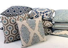 I ordered throw pillow covers from her!  LOVE THEM!!!!! - Def recommend! Light Blue Grey and Indigo Euro Sham 24x24 26x26 plus 5 other sizes, $18.00