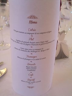 menu photophore