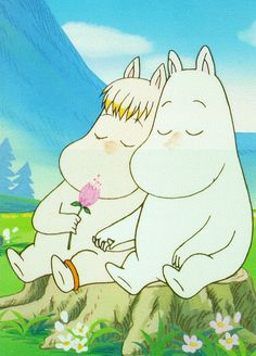 If I ever get a tattoo, a simple black line drawing of Snorkmaiden and Moomin would look amazing. Les Moomins, Moomin Valley, Tove Jansson, Anime, Art Inspo, Fairy Tales, Illustration Art, Childhood, Artsy
