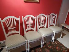 Ethan Allen Wheatback Renee Chairs (set Of Four)country French