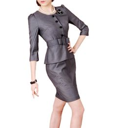 Purpura Erizo Womens Grey Faux 2 Piece Set Suit Belted Peplum Dress, Small Purpura Erizo http://www.amazon.com/dp/B00A36MMHA/ref=cm_sw_r_pi_dp_vlJOtb1F1S79TTE7