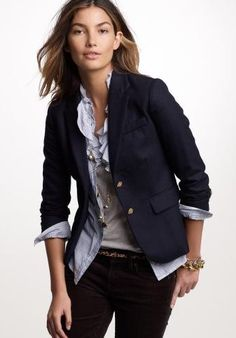 Plus-size wardrobe staples: Wardrobe Crisis Tips for Curvy Women.  #8 BLAZER: Not the bulky old school variety with shoulder pads and a boxy shape. Modern blazers have details that flatter and fit close to the body. Choose blazers in neutral colors and different fabrics for maximum versatility and make sure that they cover at least half of the bum area. And remember: if you can't button it up, don't buy it!