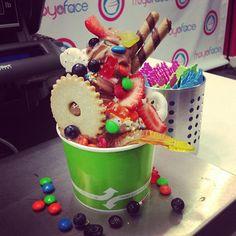 "@froyoface's photo: ""Yes this was someone's froyo! #froyoface #frozenyogurt #delish #yum #yummy #amazing #overflow"""