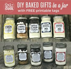 Jar Food Gifts, Gift Jars, Gifts In Jars, Diy Gifts Jar, Best Food Gifts, Easy Handmade Gifts, Mason Jar Mixes, Mason Jar Recipes, Mason Jar Cookies