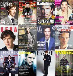 Benedict Cumberbatch + Magazine Covers