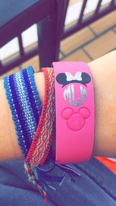 Monogrammed Minnie ears for your magic band. Perfect for your next Disney trip!