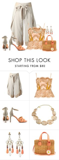 """Two Tone Bag and Shoes"" by freida-adams ❤ liked on Polyvore featuring STELLA McCARTNEY, Jessica Simpson, Dominique Denaive, Miriam Haskell and Mark Cross"