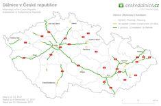 Výsledek obrázku pro české dálnice Diagram, Chart, Map, How To Plan, Cards, Location Map, Maps