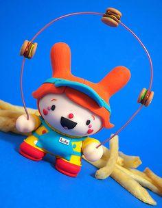 """""""Lulu the Clown"""" Custom Dunny"""
