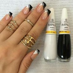 plenty of inventive and sacred summer Nail Art Design are springing up. Summer nails ought to be. French Tip Nails, French Manicures, Pretty Nail Art, Long Acrylic Nails, Square Nails, Gorgeous Nails, White Nails, Black Nails, Simple Nails