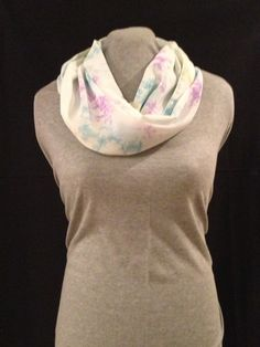 Watercolor Infinity scarf by KruseKreations22 on Etsy, $15.00