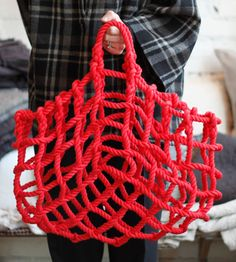 DIY rope basket bag