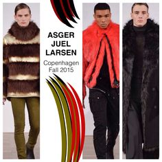 Asger Juel Larsen Copenhagen Fall 2015  Known for: Amped-up streetwear on a club-kid runway, served with a side of goth-punk tailoring Worn by: #Rihanna  Fall 2015 inspired by: Victoriana tailoring and a free-spirited, '70s, postwar mood ~ Susanne Madsen for Style  Photo: #UmbertoFtatini / Indigitalimages  #AsgerJuelLarsen #cphfw #mensfashion #readytowear #fallfashion #lanasfur #fw15