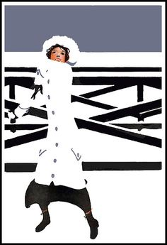 """Coles Phillips - Collier's magazine cover, December 1917  Phillips was one of the chief architects of the """"Golden Age of American #Illustration"""" whose """"fade-away"""" style of illustration was highly #popular."""