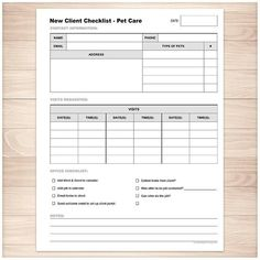 Printable Pet Care New Client Checklist - Pet Sitting - Visits and Overnight Care - PDF Instant Down Pet Sitting Business, Dog Walking Business, Pet Sitter, Best Pet Insurance, Insurance Meme, Insurance Website, Life Insurance, Cleaning Business, Gliders