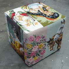 Poefs : Bagandbelly.nl - Handgemaakte en gerecyclede leren tassen