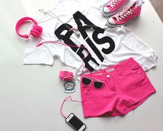 Pink Paris Outfit