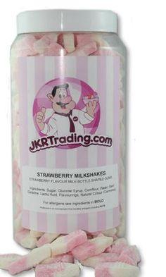 Strawberry Milkshake Sweet Jar A Gift Jar full Of Strawberry Milkshake – JKR Trading Gum Flavors, Sweet Jars, Strawberry Milkshake, Flavored Milk, Jar Gifts, Syrup, Lactic Acid, Beef, Milkshakes
