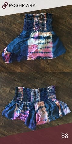 Shorts Tie dye stretch waist band shorts. Great as a swimsuit cover up or paired with a graphic tee! Swim Coverups