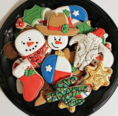 pretty christmas cookies Weihnachtspltzchen Texas Christmas Cookies ~ Our Christmas Cookies will look like this 2015 Xmas Cookies, Iced Cookies, Birthday Cookies, Fun Cookies, Santa Cookies, Christmas Goodies, Christmas Humor, Christmas Time, Christmas Kitchen